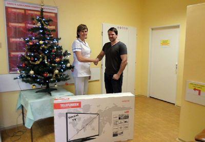 Dárce plazmy vyhrál na Transfúzní službě v Bruntále televizi